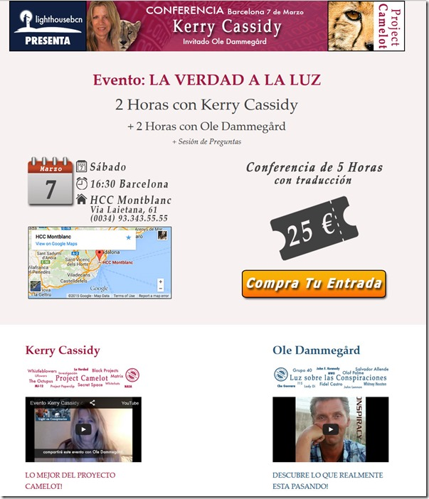 Conferencia Kerry Cassidy